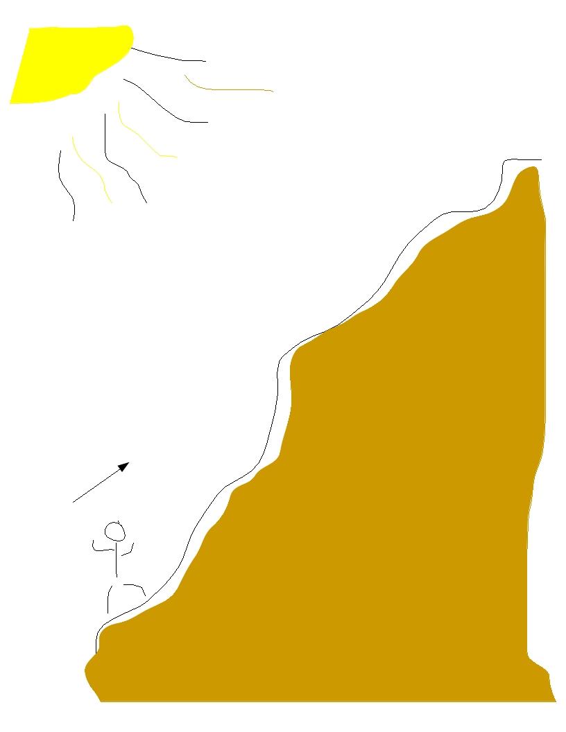 pracujem nohami. Musím isť hore na kopec, šak vidíš ňe?