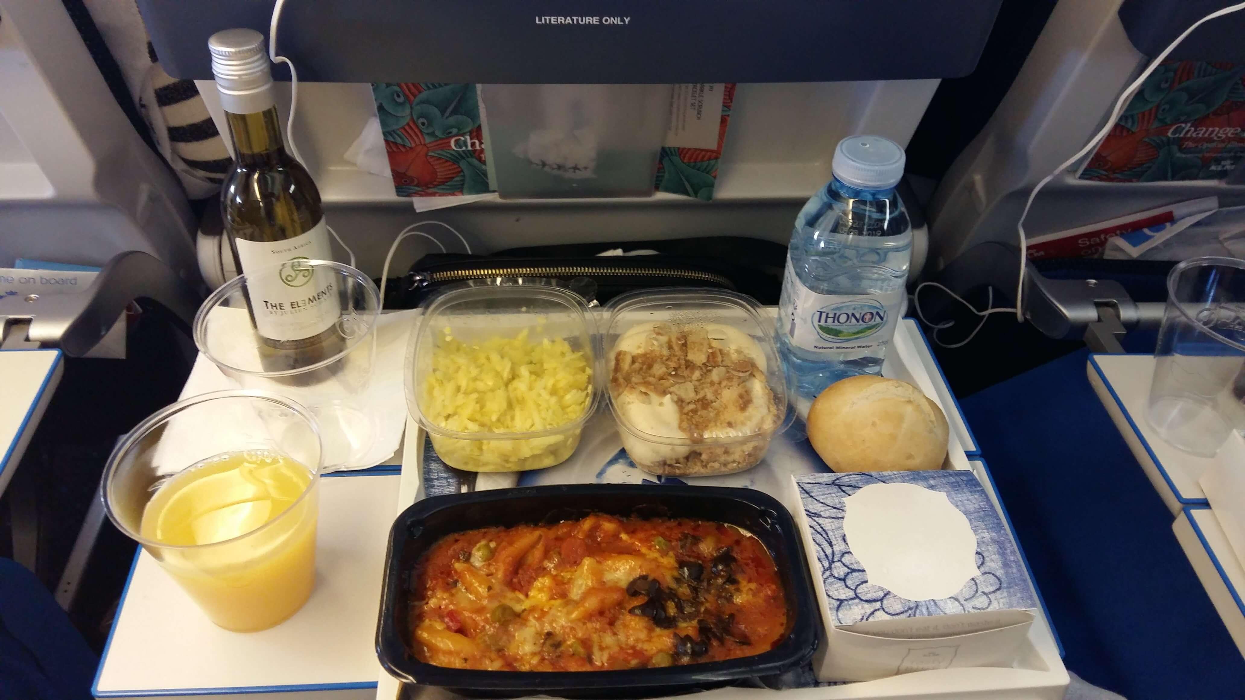 strava v lietadle