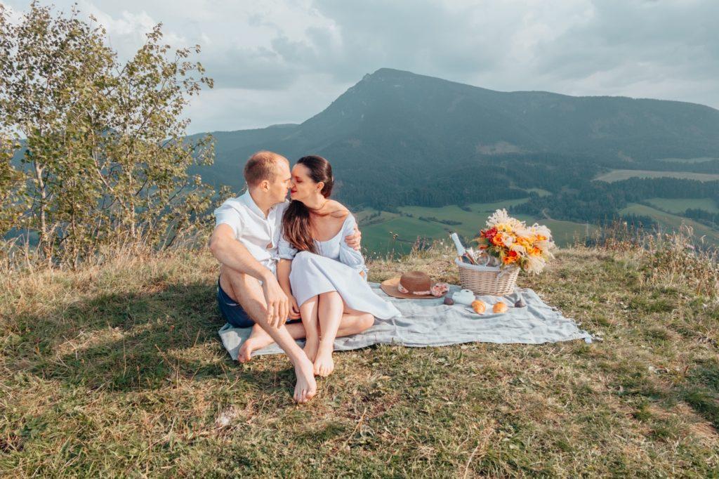 romantický piknik